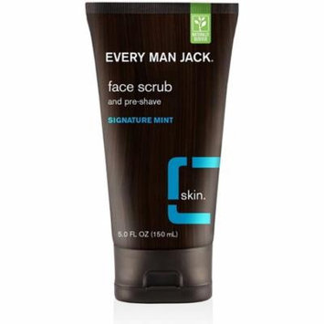 4 Pack - Every Man Jack Face Scrub & Pre-Shave, Signature Mint 5 oz