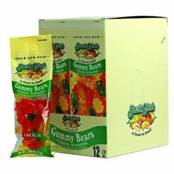 Product Of Snak Club, Gummy Bears - Tube, Ct 12 - Sugar Candy / Grab Varieties & Flavors