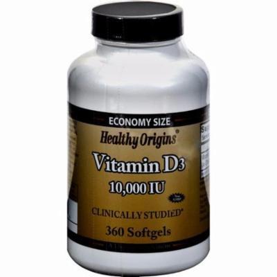 Healthy Origins Vitamin D3 - 10000 Iu - 360 Softgels