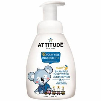 ATTITUDE, Little Ones, 3 in 1 Shampoo, Body Wash, Conditioner, Night, Almond Milk, 10 fl oz(pack of 6)