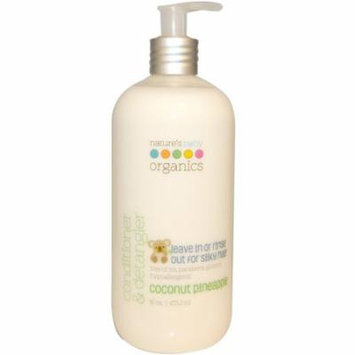 Nature's Baby Organics, Conditioner & Detangler, Coconut Pineapple, 16 oz (pack of 2)