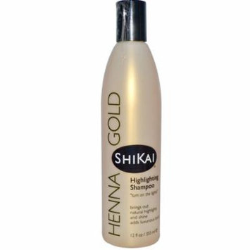 Shikai, Henna Gold, Highlighting Shampoo, 12 fl oz (pack of 1)