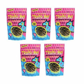 Dog Training Mini Treat Pack Bacon Flavor Rewards For Puppies Small Breed Dogs (Five Packs)