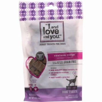 I And Love And You Dog Treats - Nice Jerky - Venison And Lamb Bites - 4 Oz - Pack of 6
