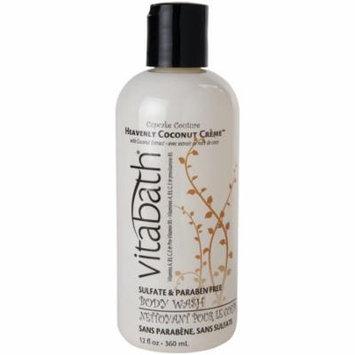 Vitabath Body Wash Heavenly Coconut Creme 12 oz