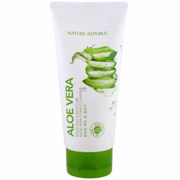 Nature Republic, Aloe Vera, Soothing & Moisture Aloe Vera Foam Cleanser, 5.07 fl oz(pack of 2)