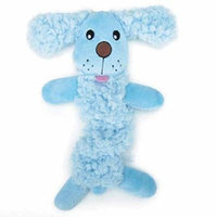 Baby Bark Bungee Stretch Puppy Dog Toys Pink or Blue Soft Plush Toy Small Pups (Blue)
