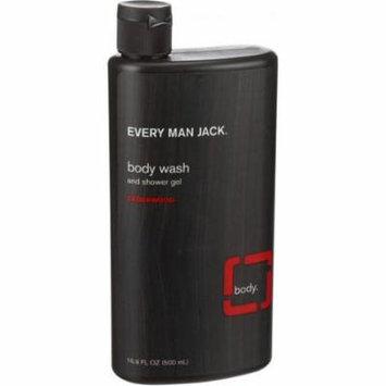 2 Pack - Every Man Jack Body Wash & Shower Gel, Cedarwood 16.90 oz