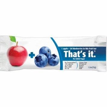 4 Pack - That's It Fruit Bar, 1.2 oz bars, Apple & Blueberry 12 bars