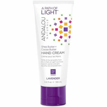4 Pack - Andalou Naturals Hand Cream, Lavender 3.4 oz