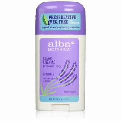 4 Pack - Alba Botanica Clear Enzyme Deodorant Stick, Lavender 2 oz