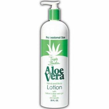 6 Pack - Triple Lanolin Aloe Vera Hand & Body Lotion, Lavender 20 oz