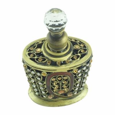 Welforth Amber Epoxy With Stones Perfume Bottle