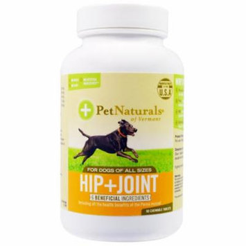 Pet Naturals of Vermont, Hip + Joint, For Dogs of All Sizes, 90 Chewable Tablets(pack of 4)