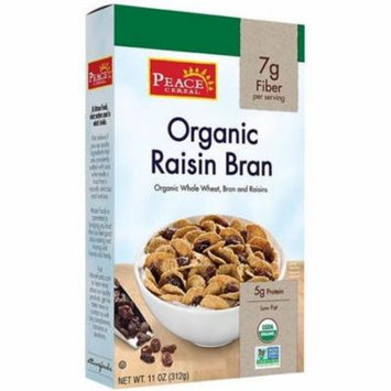 4 Pack - Peace Cereal Organic Raisin Bran 11 oz