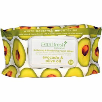 Petal Fresh, Softening & Protecting Facial Wipes, Avocado & Olive Oil, 60 Wipes(pack of 1)