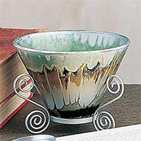 StealStreet SS-A-34734 Marble Grain Cone Shape Candle Holder, Silver