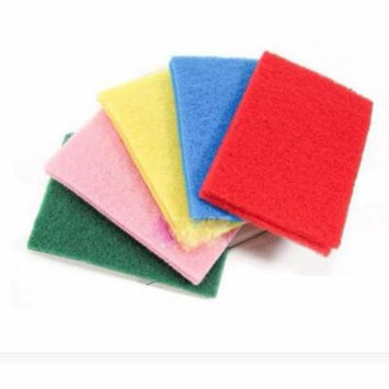 Womail 10pcs NEW Kitchen Home Scouring Scour Scrub Cleaning Pads Random Color