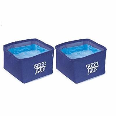Cooling Dog Bowls - Portable Water Resistant Bowl with Cooler Insert Bulk Packs(2 Bowls)