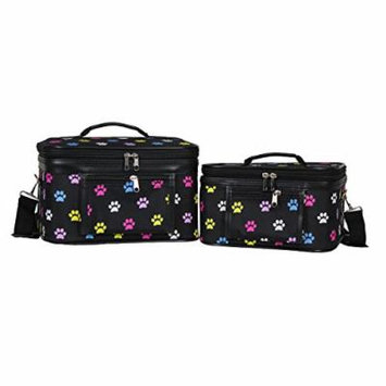World Traveler Women's 2-Piece Cosmetic Case Set, Multi Paws