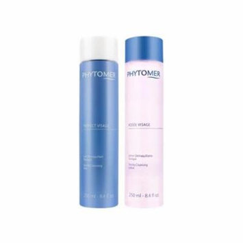 Phytomer Essential Duo Rosee Visage Toning Cleansing Lotion (8.4 oz) & Gentle Cleansing Milk (8.4 oz.) New