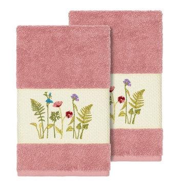 Linum Home Textiles Serenity Embellished Hand Towel Set