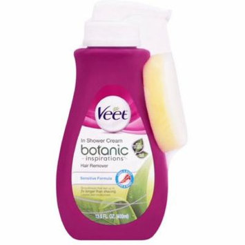 2 Pack - Veet In Shower Hair Removal Cream, Botanic Inspirations, Legs & Body, 13.5 oz