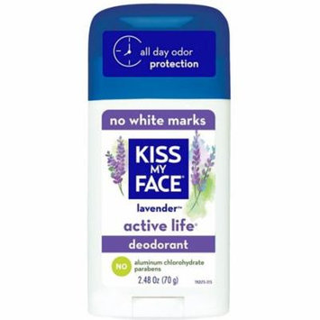 4 Pack - Kiss My Face Active Life Deodorant, Lavender 2.48 oz