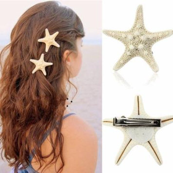 Womail Europe Women Lady Girls Pretty Natural Starfish Star Beige Hair Clip