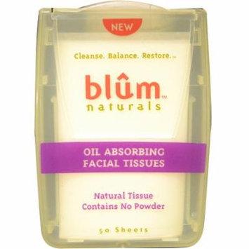 Blum Naturals, Oil Absorbing Facial Tissues, 50 Sheets(pack of 6)