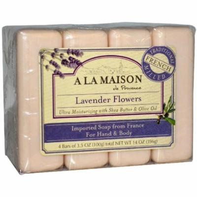 2 Pack - A LA MAISON Bar Soap, 3.5 oz bars, Lavender Flowers 4 ea