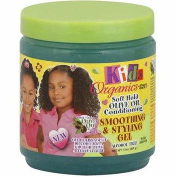 6 Pack - Africa's Best Kids Organics Smoothing & Styling Gel 15 oz