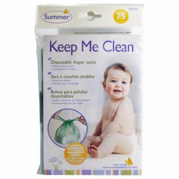Summer Infant, Keep Me Clean, Disposable Diaper Sacks, 75 Count(pack of 2)