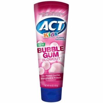 6 Pack - ACT Kids Fluoride Toothpaste, Bubblegum Blowout 4.6 oz
