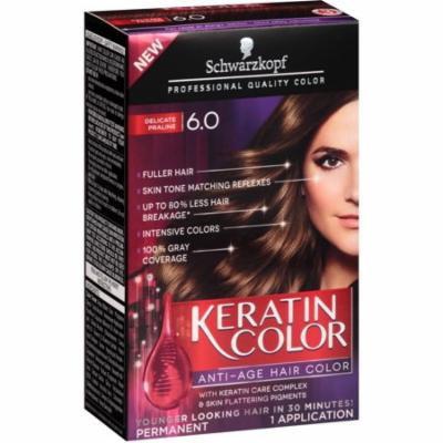 2 Pack - Schwarzkopf Keratin Color Anti-Age Hair Color, Delicate Praline [6.0] 1 ea