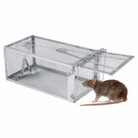 26.2*14*11.4cm Live Animal Humane Trap Catch and Release Rats Mouse Rodent Cage Trap for Mole,Weasels Control
