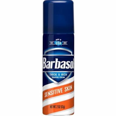 3 Pack - Barbasol Thick & Rich Shaving Cream, Sensitive Skin 2 oz