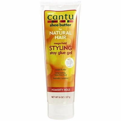 3 Pack - Cantu Natural Hair Mega-Hold, Styling Stay Glue Gel 8 oz