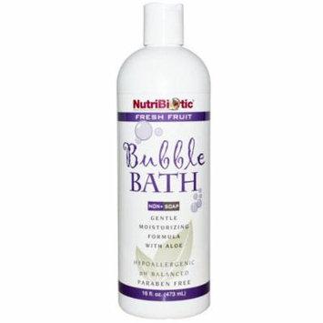 NutriBiotic, Bubble Bath, Non-Soap, Fresh Fruit, 16 fl oz (pack of 4)