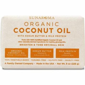 6 Pack - Sunaroma Organic Coconut Oil Soap 8 oz