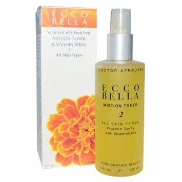 Ecco Bella, Mist-On Toner & Vitamin Spray 2, 4 fl oz(pack of 2)