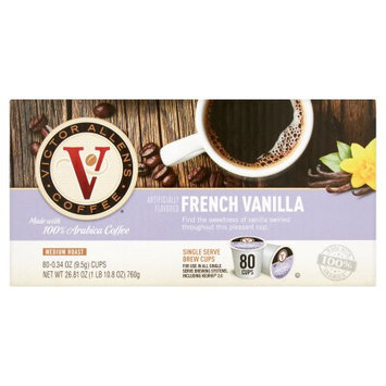 Victor Allen Coffee French Vanilla Single Serve K-cup, 80 Count (Compatible with 2.0 Keurig Brewers)