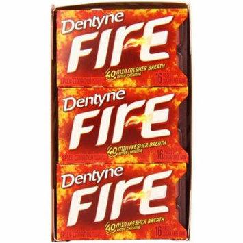 6 Pack - Dentyne Fire Sugar-Free Gum, Spicy Cinnamon 9 pack (16 ct per pack)