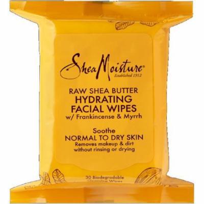 6 Pack - Shea Moisture Raw Shea Hydrating Facial Wipes 30 ea