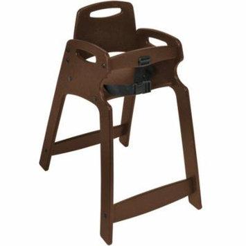 TableTop King KB833-09-KD Dark Brown Unassembled Recycled Plastic High Chair