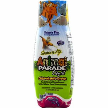 Nature's Plus, Source of Life, Animal Parade Liquid, Children's Multi-Vitamin, Natural Tropical Berry Flavor, 8 fl oz (pack of 12)