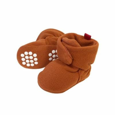 Wrapables® Fleece Baby Booties with Anti-Skid Bottoms, Brown, 6-12 M