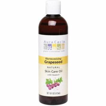 2 Pack - Aura Cacia Natural Skin Care Oil with Vitamin E, Harmonizing Grapeseed 16 oz