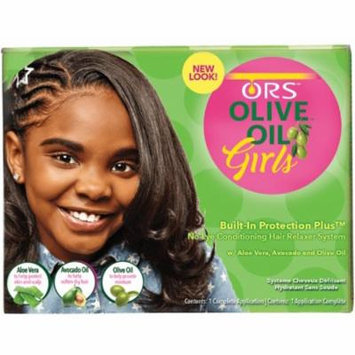 3 Pack - ORS Olive Oil Girls Built-In Protection + No-Lye Conditioning Relaxer System 1 ea