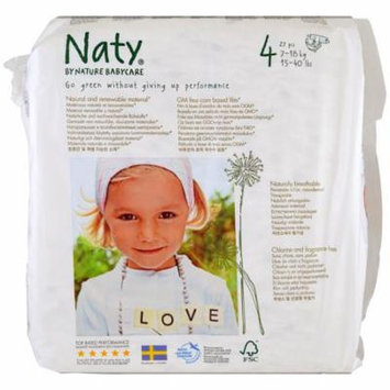 Naty, Diapers, Size 4, 15-40 lbs (7-18 kg), 31 Diapers(pack of 4)